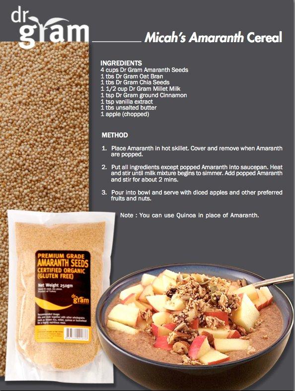 Micah's Amaranth Cereal